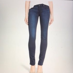 Paige Skinny Skyline blue stretch jeans 25 EUC